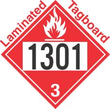 Flammable Class 3 UN1301 Tagboard DOT Placard