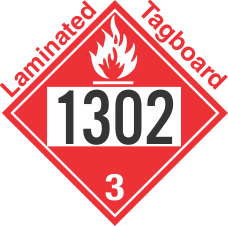 Flammable Class 3 UN1302 Tagboard DOT Placard