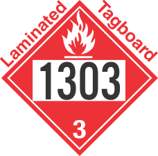 Flammable Class 3 UN1303 Tagboard DOT Placard