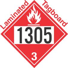 Flammable Class 3 UN1305 Tagboard DOT Placard