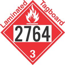 Flammable Class 3 UN2764 Tagboard DOT Placard