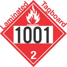 Flammable Gas Class 2.1 UN1001 Tagboard DOT Placard