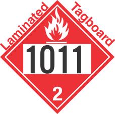 Flammable Gas Class 2.1 UN1011 Tagboard DOT Placard