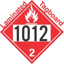 Flammable Gas Class 2.1 UN1012 Tagboard DOT Placard