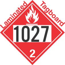 Flammable Gas Class 2.1 UN1027 Tagboard DOT Placard
