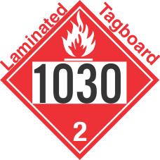 Flammable Gas Class 2.1 UN1030 Tagboard DOT Placard
