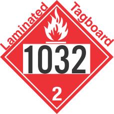 Flammable Gas Class 2.1 UN1032 Tagboard DOT Placard