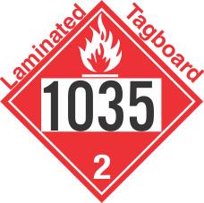 Flammable Gas Class 2.1 UN1035 Tagboard DOT Placard