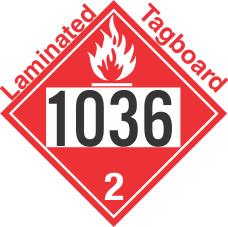 Flammable Gas Class 2.1 UN1036 Tagboard DOT Placard