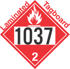 Flammable Gas Class 2.1 UN1037 Tagboard DOT Placard
