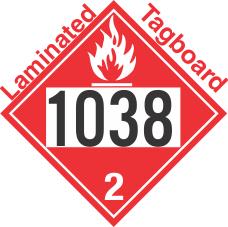 Flammable Gas Class 2.1 UN1038 Tagboard DOT Placard