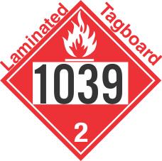 Flammable Gas Class 2.1 UN1039 Tagboard DOT Placard