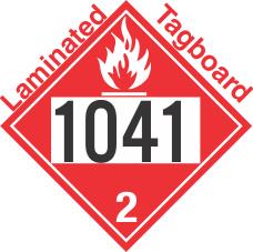 Flammable Gas Class 2.1 UN1041 Tagboard DOT Placard