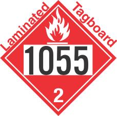 Flammable Gas Class 2.1 UN1055 Tagboard DOT Placard