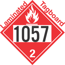 Flammable Gas Class 2.1 UN1057 Tagboard DOT Placard