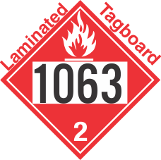 Flammable Gas Class 2.1 UN1063 Tagboard DOT Placard