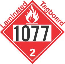 Flammable Gas Class 2.1 UN1077 Tagboard DOT Placard