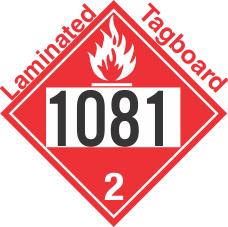 Flammable Gas Class 2.1 UN1081 Tagboard DOT Placard