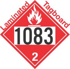 Flammable Gas Class 2.1 UN1083 Tagboard DOT Placard