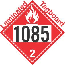 Flammable Gas Class 2.1 UN1085 Tagboard DOT Placard
