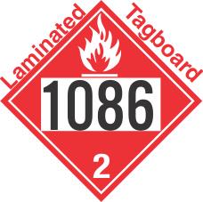 Flammable Gas Class 2.1 UN1086 Tagboard DOT Placard
