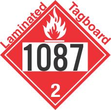 Flammable Gas Class 2.1 UN1087 Tagboard DOT Placard