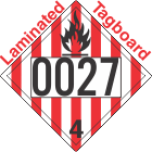 Flammable Solid Class 4.1 UN0027 Tagboard DOT Placard
