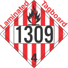 Flammable Solid Class 4.1 UN1309 Tagboard DOT Placard
