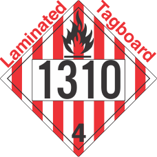 Flammable Solid Class 4.1 UN1310 Tagboard DOT Placard