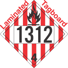 Flammable Solid Class 4.1 UN1312 Tagboard DOT Placard