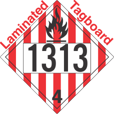 Flammable Solid Class 4.1 UN1313 Tagboard DOT Placard