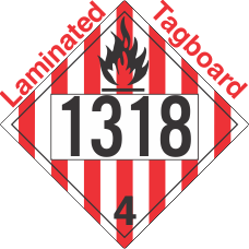 Flammable Solid Class 4.1 UN1318 Tagboard DOT Placard