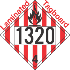 Flammable Solid Class 4.1 UN1320 Tagboard DOT Placard