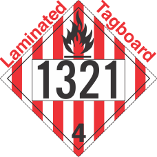 Flammable Solid Class 4.1 UN1321 Tagboard DOT Placard