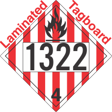 Flammable Solid Class 4.1 UN1322 Tagboard DOT Placard