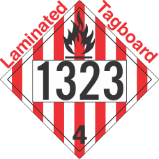 Flammable Solid Class 4.1 UN1323 Tagboard DOT Placard