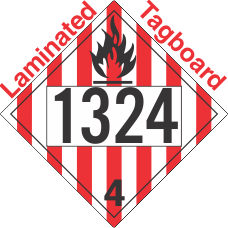 Flammable Solid Class 4.1 UN1324 Tagboard DOT Placard