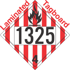 Flammable Solid Class 4.1 UN1325 Tagboard DOT Placard