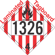 Flammable Solid Class 4.1 UN1326 Tagboard DOT Placard