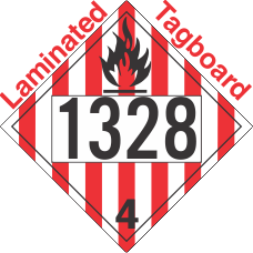 Flammable Solid Class 4.1 UN1328 Tagboard DOT Placard