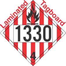 Flammable Solid Class 4.1 UN1330 Tagboard DOT Placard