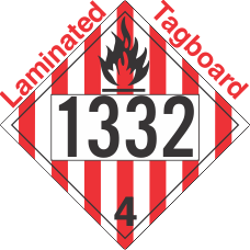 Flammable Solid Class 4.1 UN1332 Tagboard DOT Placard