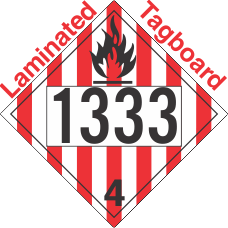 Flammable Solid Class 4.1 UN1333 Tagboard DOT Placard