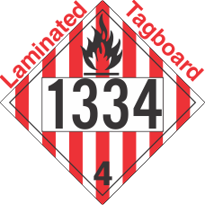Flammable Solid Class 4.1 UN1334 Tagboard DOT Placard