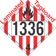 Flammable Solid Class 4.1 UN1336 Tagboard DOT Placard