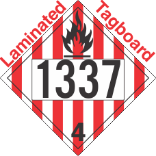 Flammable Solid Class 4.1 UN1337 Tagboard DOT Placard