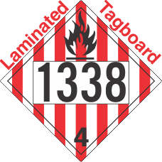 Flammable Solid Class 4.1 UN1338 Tagboard DOT Placard