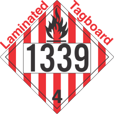 Flammable Solid Class 4.1 UN1339 Tagboard DOT Placard