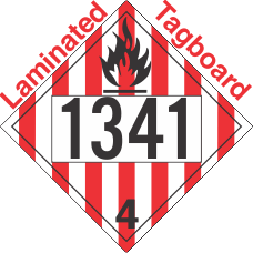 Flammable Solid Class 4.1 UN1341 Tagboard DOT Placard