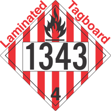 Flammable Solid Class 4.1 UN1343 Tagboard DOT Placard